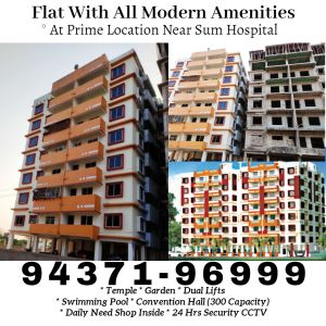 2 BHK 1100 sq. ft. Flat / Apartment for Sale in Sum Hospital, Bhubaneswar