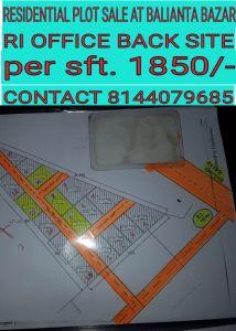 1500 sq. ft. Residential Land / Plot for Sale in Balianta, Bhubaneswar