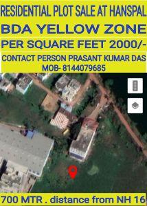 1500 sq. ft. Residential Land / Plot for Sale in Hanspal, Bhubaneswar